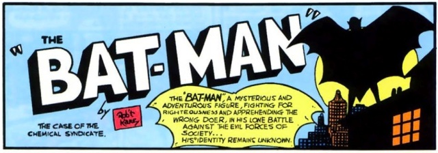 Imagem da Detective Comics #27, primeira aparição do Batman