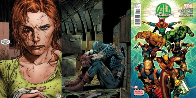 Viuva Negra desfigurada, Capitão América alquebrado e Defensores em formação inédita!