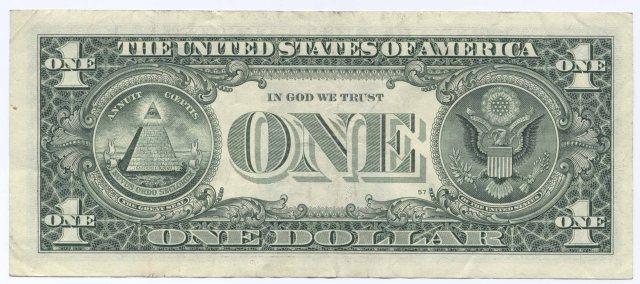 """Seja a nota de 1 ou de 100 sempre estará lá """"In God we trust"""""""