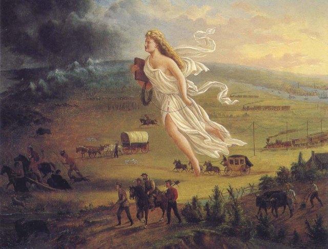 """A imagem da """"Deusa"""" Columbia, criada para representar esse manifesto... Muito pode ser analisado..."""