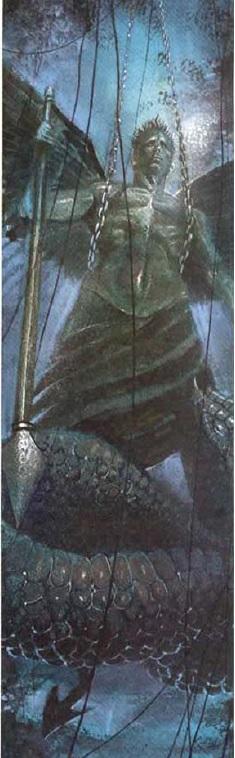 O Arcanjo Miguel dominando a Serpente
