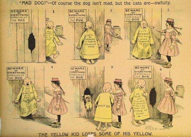 A história conta que ele teve essa cor pois precisavam testar o amarelo nas impressoras