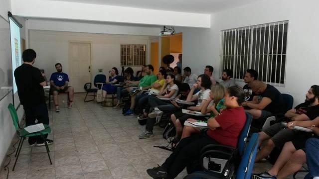 Foto da primeira edição do curso, realizada em janeiro de 2015