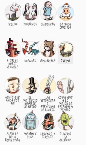 Alguns personagens