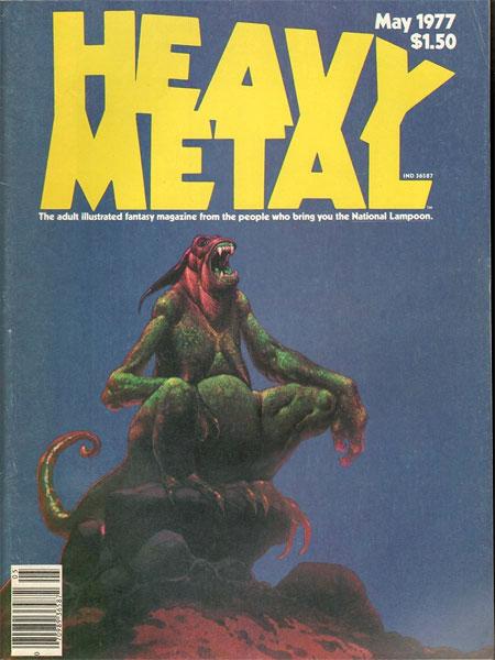 Capa da segunda edição da Heavy Metal. Não... Eu não repeti a imagem, preste atenção!