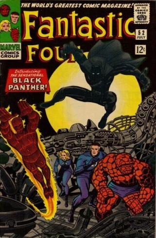 A primeira aparição do Pantera Negra, na revista do Quarteto Fantástico (1966)