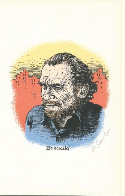 Retrato do Bukowski feito pelo Crumb