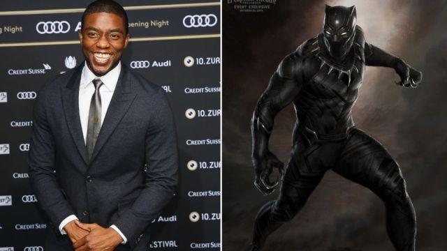 Chadwick Boseman, que interpretará o Pantera Negra no cinema