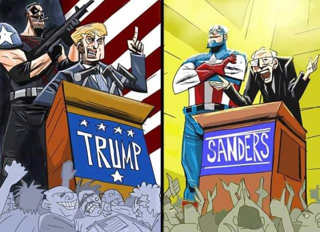 Um outro exemplo, mas que mostra as relações dos quadrinhos com a política