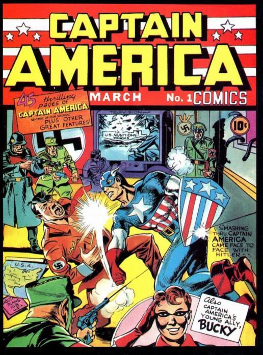 Capa da primeira edição do Capitão América
