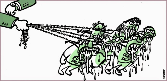 Sobre os discursos raivosos e sua representação pela Laerte