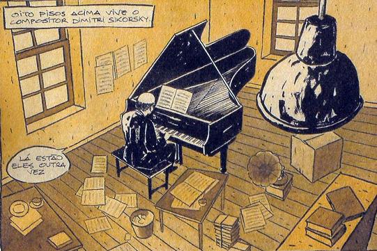 """""""Quando ouvimos música, assim como nos quadrinhos, também estamos lidando com variados elementos de forma conjunta"""""""