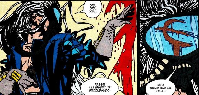 """Quando King Mob identifica um sigil em """"Os Invisíveis""""."""
