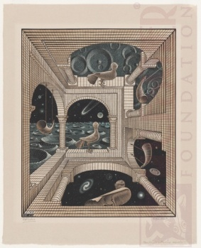 M>C. Escher. Other World. Xilogravura. 1947