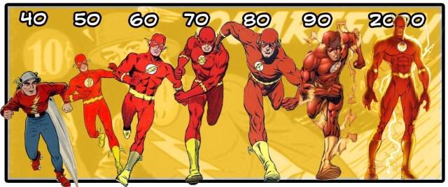 flash eras dos quadrinhos